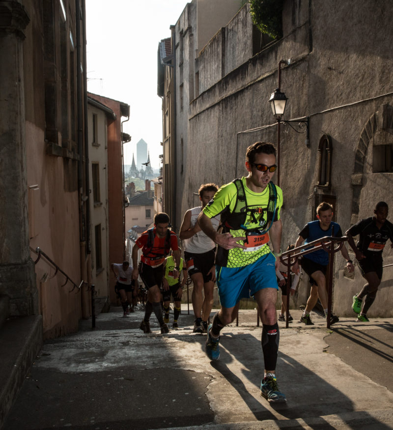 Course à pied escaliers - Lyon Urban Trail – Trail Urbain – LUT - © Gilles Reboisson