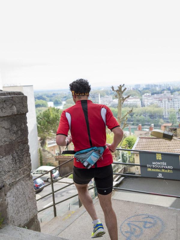 Montée du boulevard - Lyon Urban Trail – Trail Urbain – LUT - © Gilles Reboisson