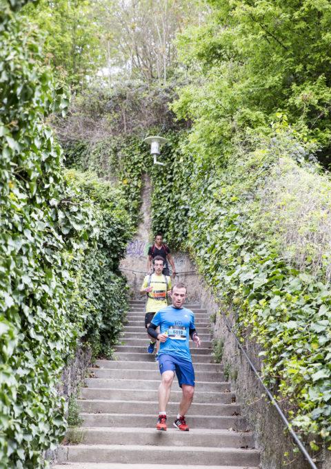 Course à pied - escaliers - Lyon Urban Trail – Trail Urbain – LUT - © Gilles Reboisson