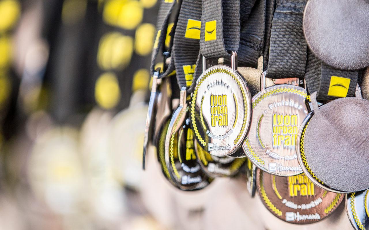 Médailles Lyon Urban Trail – Trail Urbain – LUT - © Gilles Reboisson