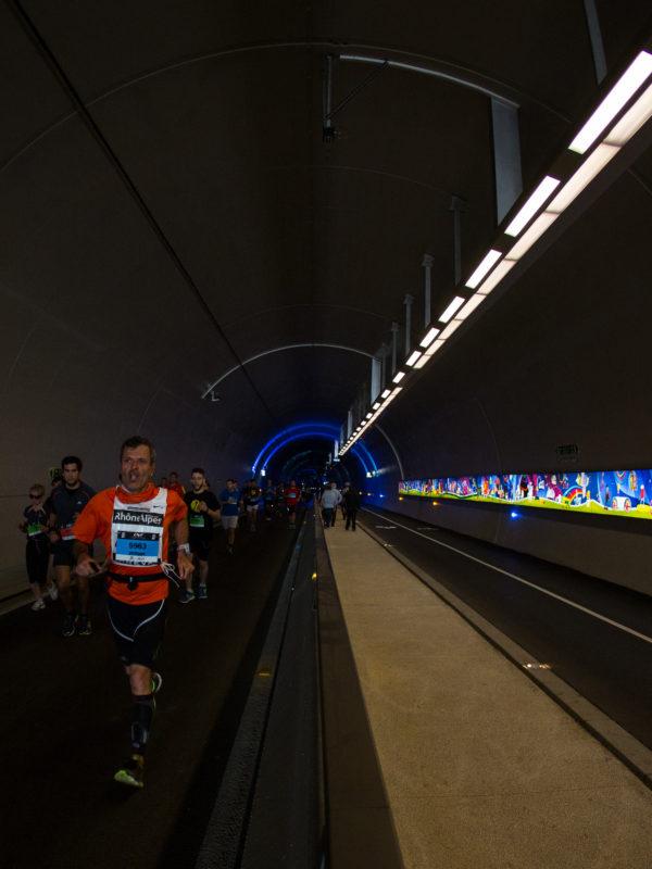 Tunnel de la croix-rousse piéton - course à pied - Lyon Urban Trail – Trail Urbain – LUT - © Gilles Reboisson