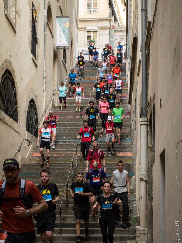 Colline de la croix-rousse escaliers - Lyon Urban Trail – Trail Urbain – LUT - © Gilles Reboisson