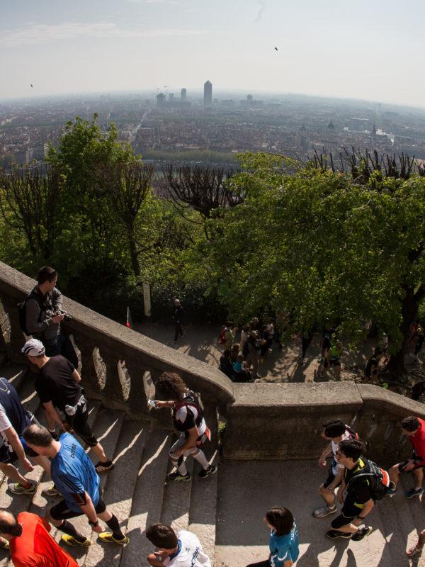 Basilique de Fourvière - Course à pied - Lyon Urban Trail – Trail Urbain – LUT - © Gilles Reboisson