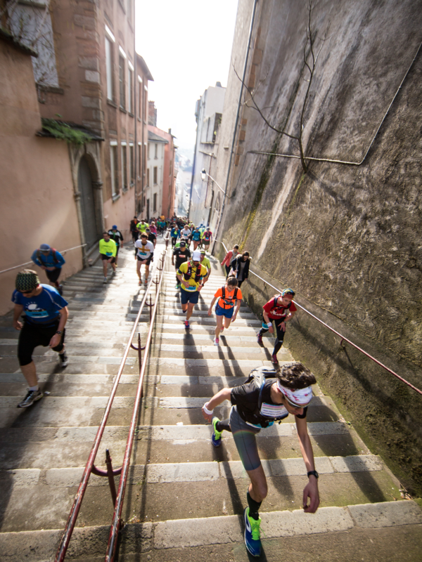 Escaliers croix-rousse - Lyon Urban Trail – Trail Urbain – LUT - © Gilles Reboisson