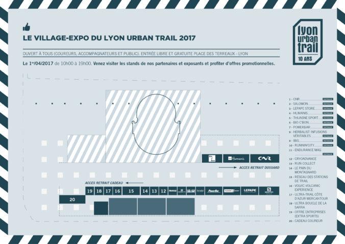 Plan Village expo - Lyon Urban Trail – Trail Urbain – LUT